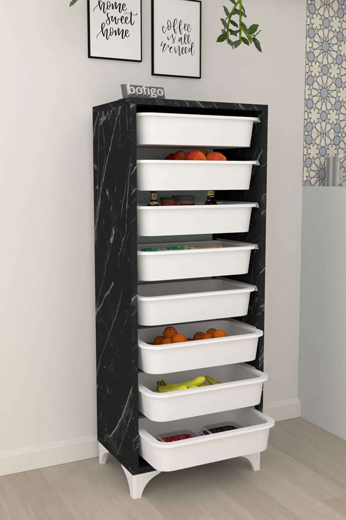 Bofigo 8 Basket Kitchen Cabinet Multi-Purpose Cabinet Crisper Bendir