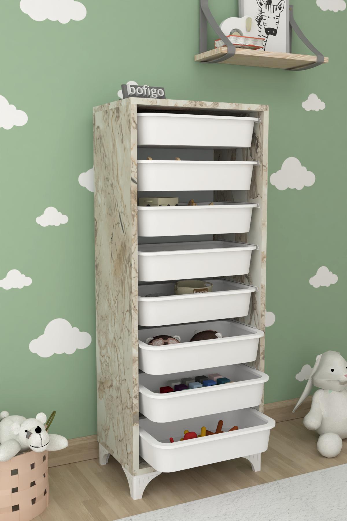 Bofigo 8 Basket Kitchen Cabinet Multi-Purpose Cupboard Crisper Efes
