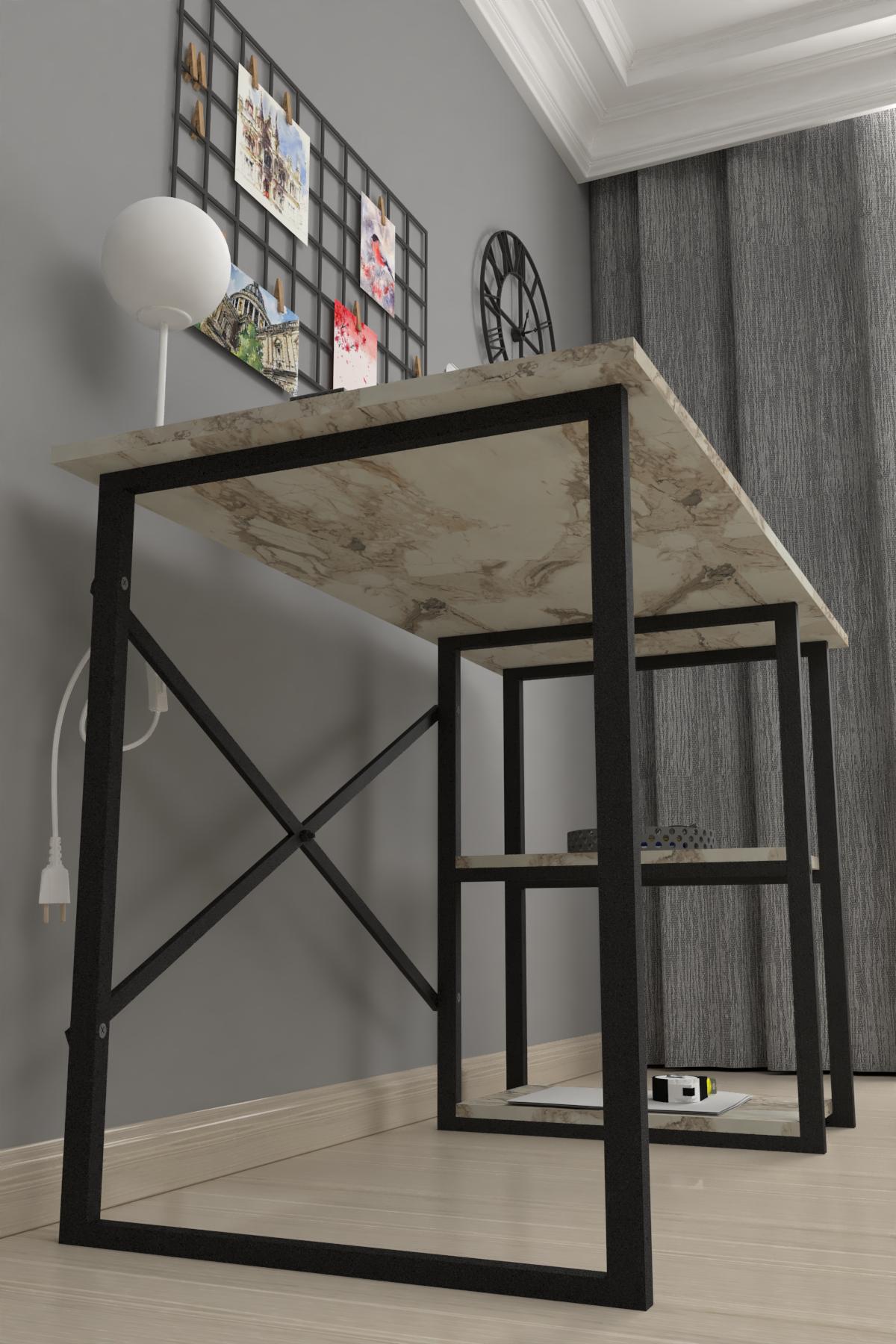 Bofigo 2 Shelf Desk 60x120 cm Efes