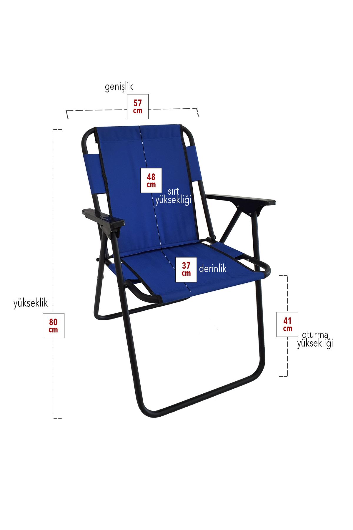 Bofigo 4 Pcs Camping Chair Folding Chair Picnic Chair Beach Chair Blue