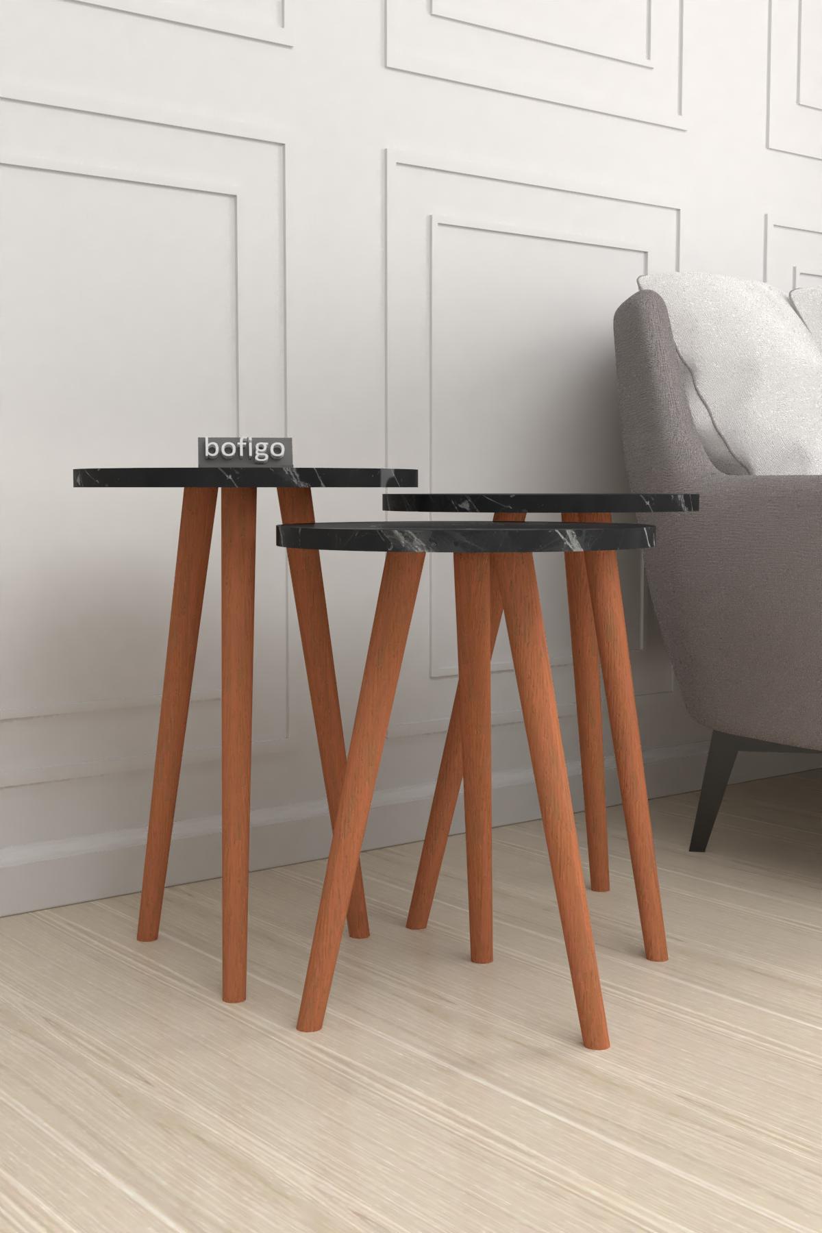 Bofigo Wooden Leg Nesting Table Bendir
