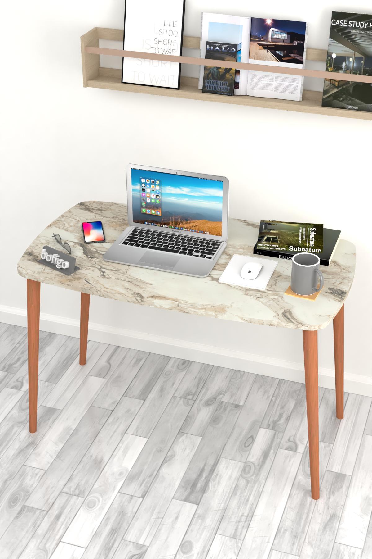 Bofigo Desk 60x105 Cm Efes (Wooden Leg)