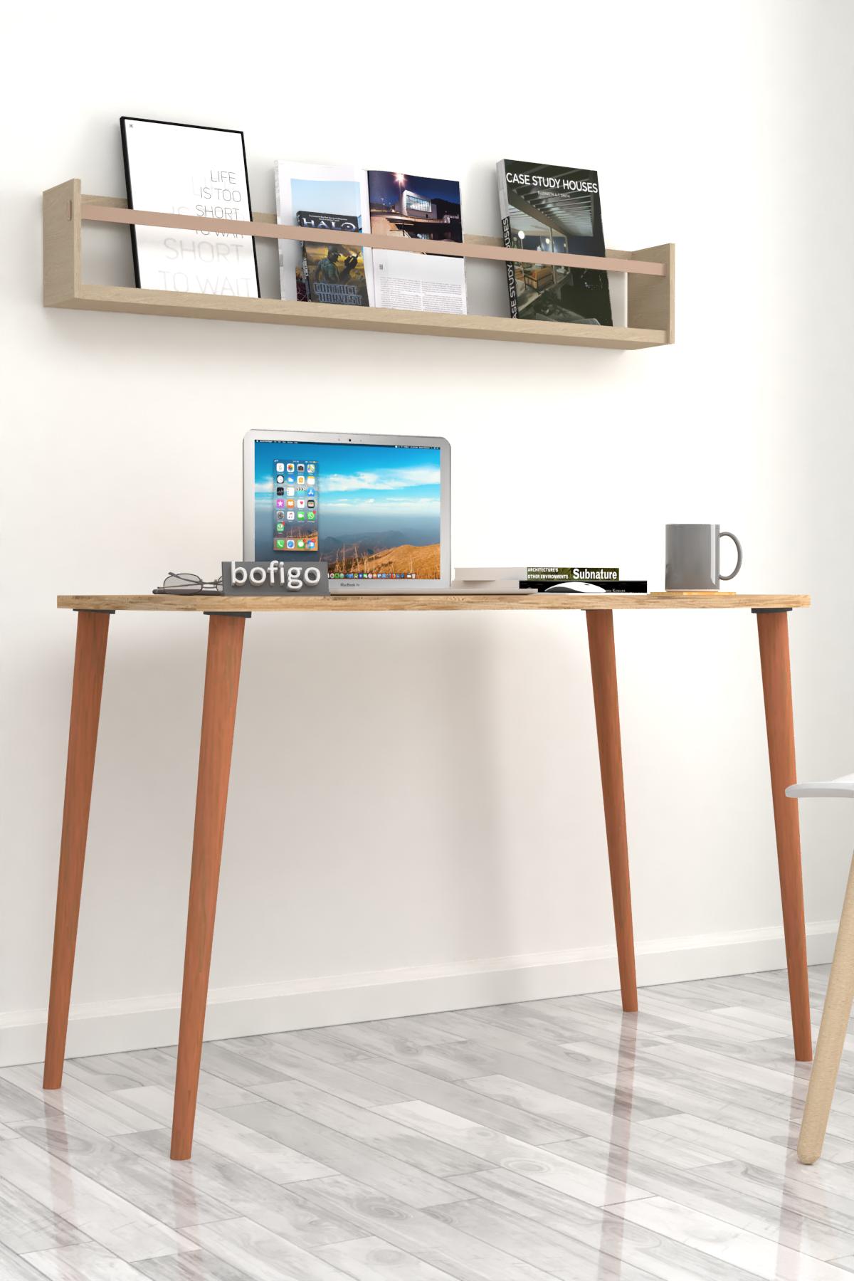 Bofigo Desk 60x105 Cm Pine (Wooden Leg)