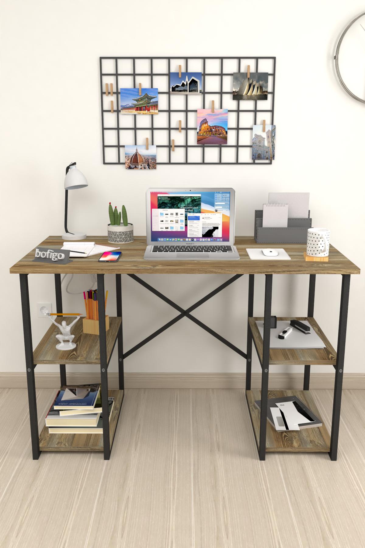 Bofigo 4 Raflı Çalışma Masası 60x120 cm Patik