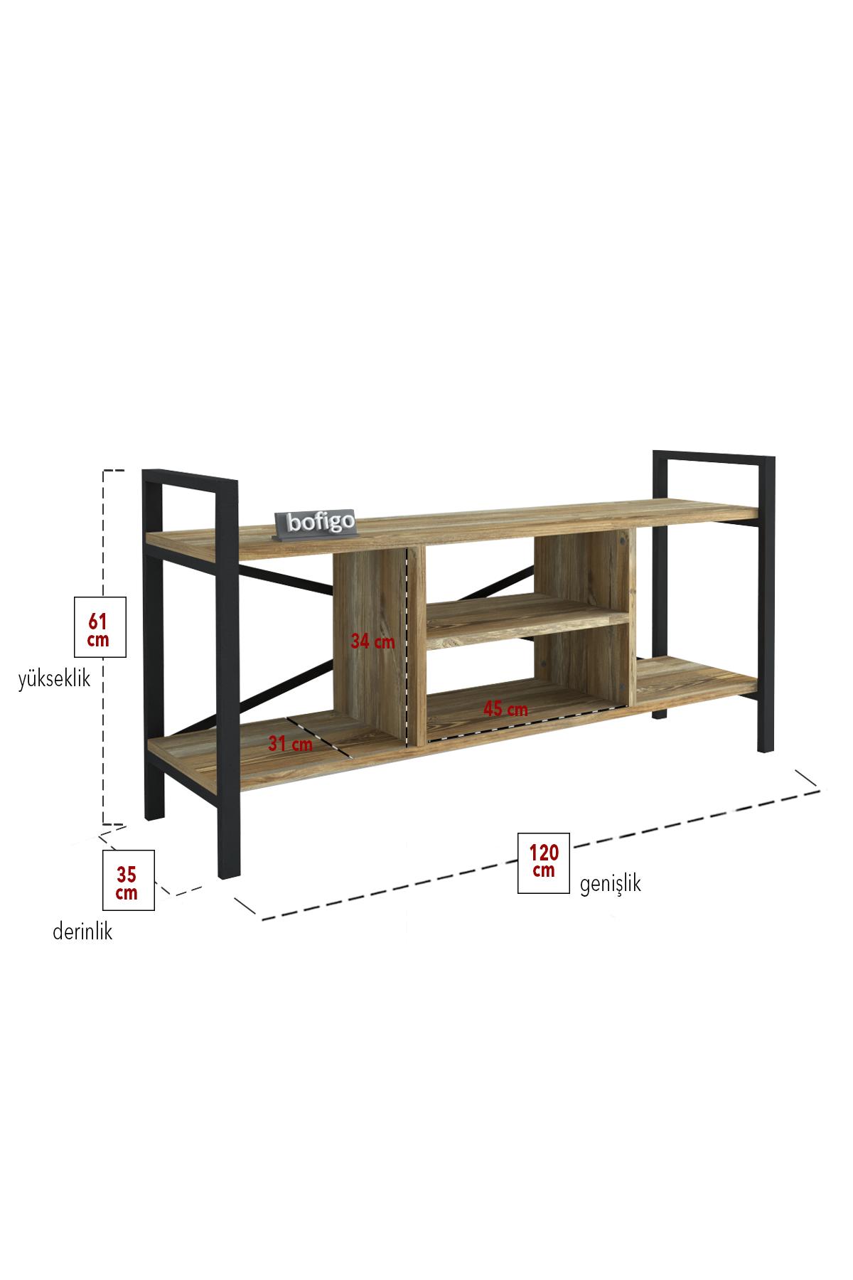 Bofigo TV Stand TV Unit with Shelves Television Stand Patik