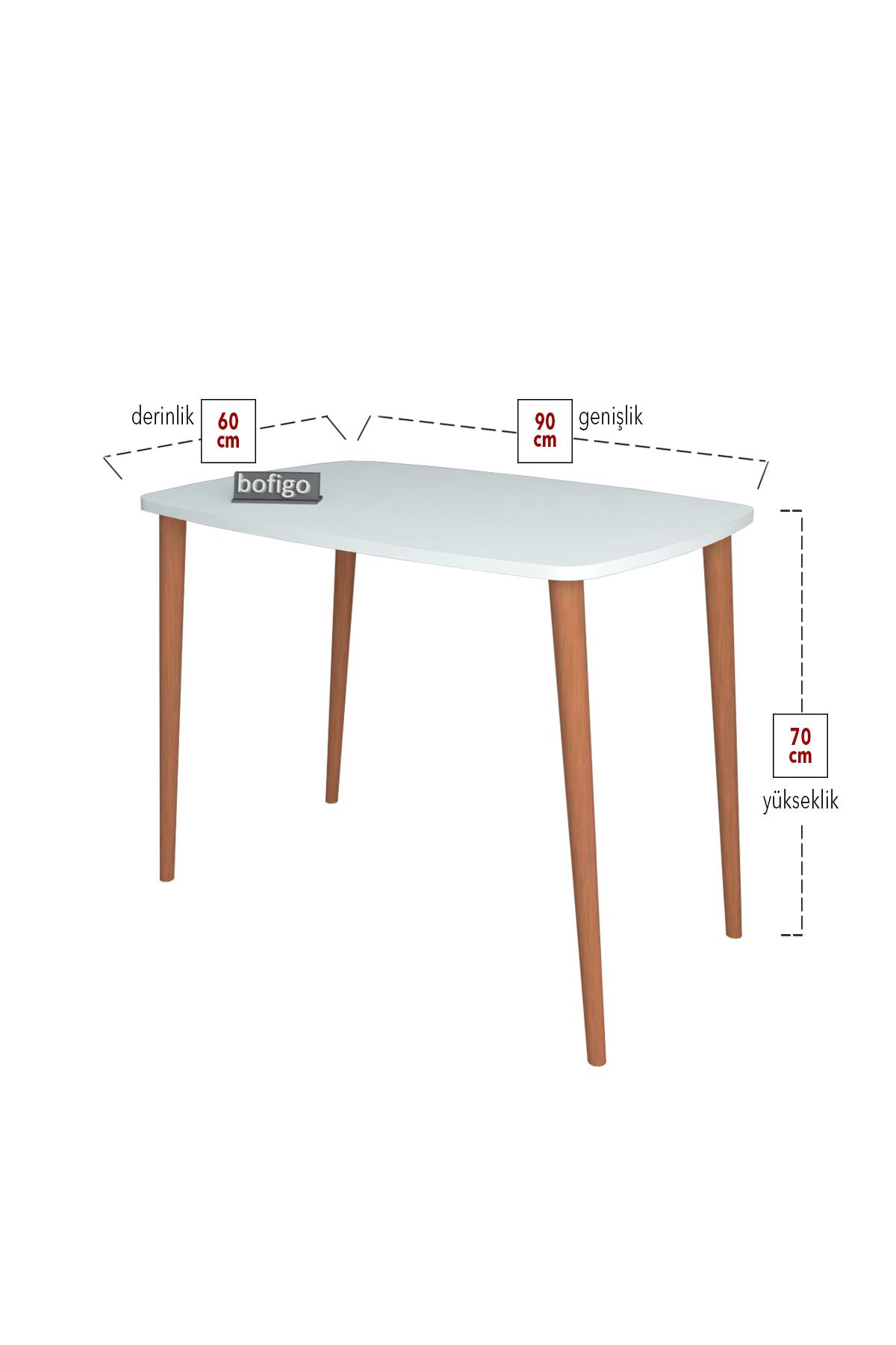Bofigo Desk 60x90 Cm White (Wooden Legs)