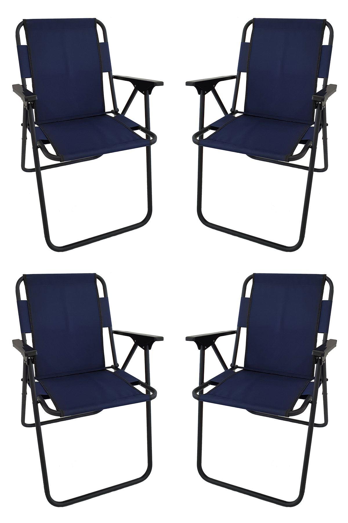 Bofigo 60X80 Granite Patterned Folding Table + 4 Pieces Folding Chair Camping Set Garden Set Navy BlueBofigo 60X80 Granite Patterned Folding Table + 4 Pieces Folding Chair Camping Set Garden Set Navy Blue