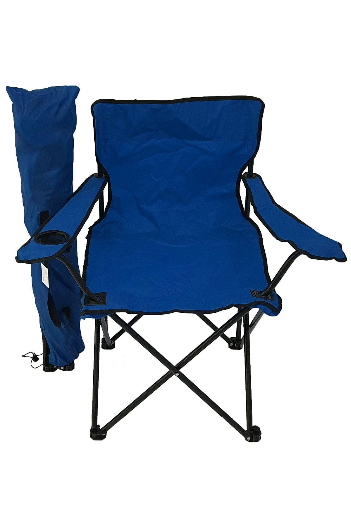 Bofigo Kamp Sandalyesi Piknik Sandalyesi Katlanır Sandalye Taşıma Çantalı Kamp Sandalyesi Mavi