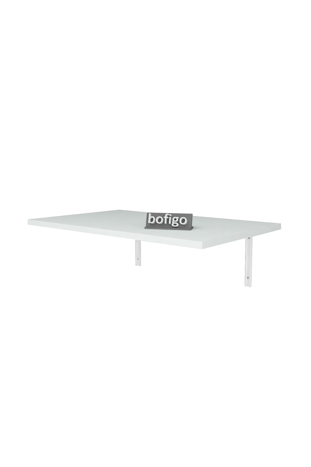 Bofigo 72 x 45 Cm Folding Table Wall Mounted Table Kitchen Table Balcony Table Study Desk