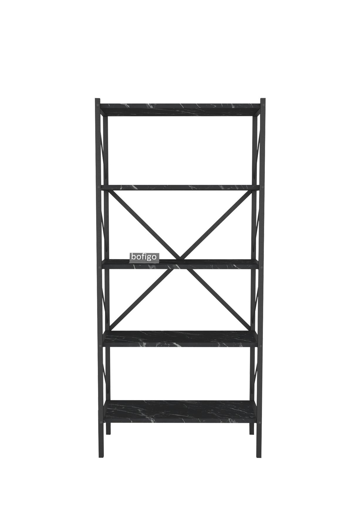 Bofigo Decorative 5 Shelf Bookcase Metal Bookcase Bendir