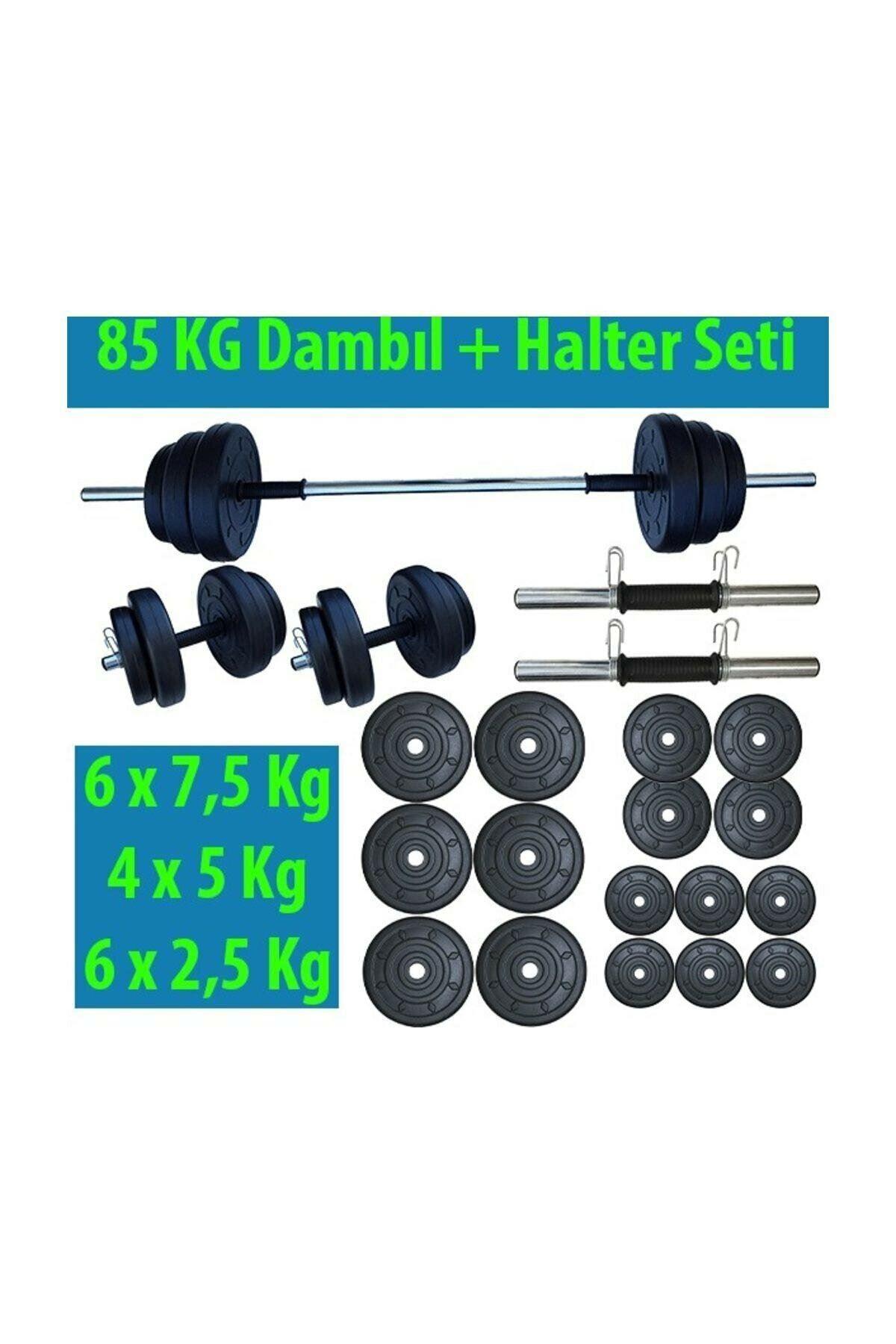 Dambılcım 85 KG Halter Seti Dambıl Seti Ağırlık ve Vücut Geliştirme Aleti 85 Kg Dumbell Set
