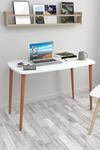 Bofigo Desk 60x105 Cm White (Wooden Leg)