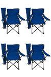 Bofigo 4-Seat Camping Chair Picnic Chair Folding Chair Camping Chair with Carrying Bag Blue
