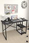 Bofigo 2 Raflı Çalışma Masası 60x120 cm Antrasit